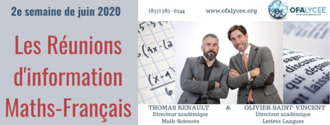 les réunions d'information maths francais
