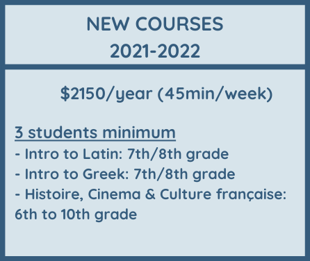 OFALycee Tuition Fees new courses